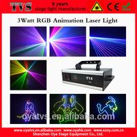 3w rgb animation laser light home laser light show equipment