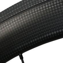 Luz 50 mm llantas de carbono tubulares del camino del carbón de 700c bicicleta de carretera ruedas 23 mm ancho del camino del carbón wheelset de la bici 700c