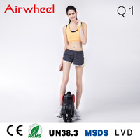 Airwheel factory CE,ROHS certificated solo wheel unicycle leisure exercise and our door sports equipment electric bike battery