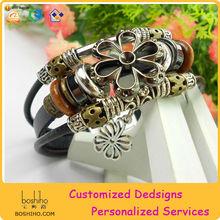 Party Dress Leather Bracelet Wholesale Leather Bracelet Straps