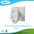 Sensori da esterno pir lampada con spina speciale staffa pir pa-82d, CE& rohs