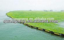 rubber oil boom/oil dam/seaweed barrier on sea