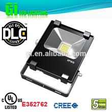 Top quality IP65 UL cUL(UL NO.E352762) DLC solar flood light with timer