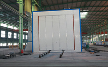 surface cleaning sand blasting room