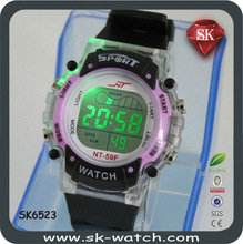 2014 High quality fashion silicone rounded led watch top-selling