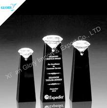 Black Base Shining Crystal Diamond Trophy Crystal Classic