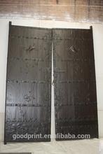 Massive Pair Antique Chinese Doors Ironwork Folk Art