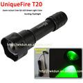 Uniqurefire t20 uf-t20 q5 cree led lampe torche de chasse vert couleur de la lumière à distance interrupteur de pression
