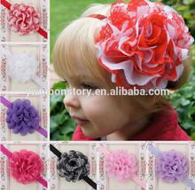 wholesale&Retail Novelty girls lovely Headband baby elastic headwear hair bands Flower fascinator accessories