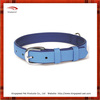 Pure blue leather dog collar