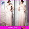 A-line Pink Flooring Length Long Chiffon Evening Dress Turkey