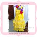 wholesale laço amarelo vestido longo