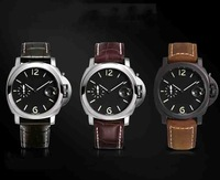 New open genuine leather watches men