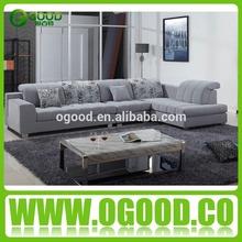 Hot Selling Sofa Furniture with Headrest /Fabric Sofa Set OSK026