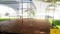 UV stable, self-draining interlocking waterproof composite deck tile, WPC interlocking solar decking tiles