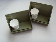 Unique design paper cup tray (cup holder tray) to display the products