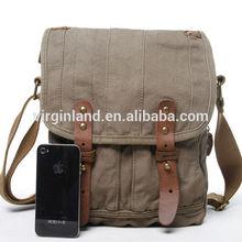 2014 fashion teenagers shoulder bags Unisex promotion small 100% cotton canvas shoulder bag