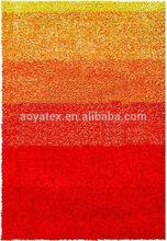 multi color design elastic+300D dagrade color pattern 6cm high shaggy rug/carpet/floor mat manufacturer