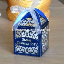 romantic paper craft filigree metallic laser cut boxes, wedding metallic paper candy boxes , metallic paper wedding decoration