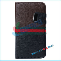 BRG-For samsung galaxy s5 Book card slot flip leather wallet case with button