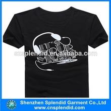 China wholesale fashion round neck men t shirts black color