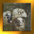 Alpaga animaux moutons peinture à l'huile sur toile 100% main mur d'image