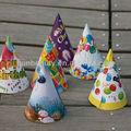 la fiesta de cumpleaños de papel del cono sombrero de adultos y los sombreros de cumpleaños
