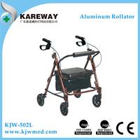 Lightweight disability rollator walker