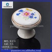 Factory Price Ceramic+Zinc Alloy Drawer Pulls & Cabinet Handle Cheap Door Handles
