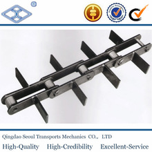 DIN ISO standard pitch 80 alloy heavy duty long pitch industrial scraper cement conveyor steel chain DSR80
