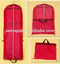 garment bag/suit cover wholesale nylon, pp non woven, polyester, cotton, PEVA,PVC,satin, velvet etc.