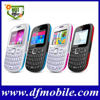 Top-1 Latest Qwerty Keyboard Cell Phones 2.0 INCH QVGA TV Quad Band Dual SM Card GPRS WAP Unlocked Mobile Phones D101