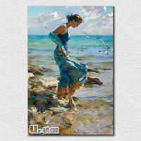 Wholesale wall pictures beautiful girl sex oil painting on bedroom wall