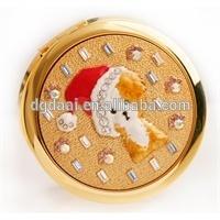 Popular hot sale classy golden christmas gift pocket mirror
