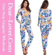 Bright Tone Vintage Floral Jumpsuit