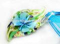 moda flor colgante de cristal de murano collar de la joyería de imitación