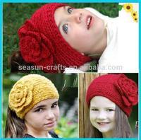 women or kids flower crochet knitting headwear hair band wholesale EMS free shipping.can custom