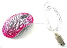 45 color Mix Wholesale Fashion fade colors diamante optical mouse cute gift mouse