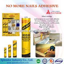 General Purpose No More Nails Sealant For Powder Coating/ splendor no more nails