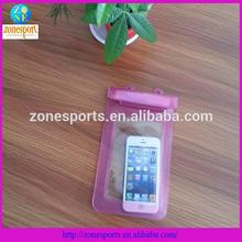 custom pvc outdoor pvc waterproof bag for mobile phone or camera