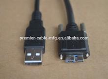 USB 3.0 A Stecker an Micro-B-Stecker Datenkabel mit Schraube fur Disk (Schwarz)