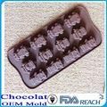mfg de vários forma de silicone de chocolate moldes de dedo de silicone moldes