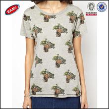 women short sleeve custom printed organic cotton t shirts wholesale