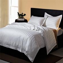 cotton/polyester striped white or dolid color bed set duvet cover set