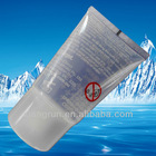white clear cosmetic tube, plastic tube,cosmetic plastic packaging