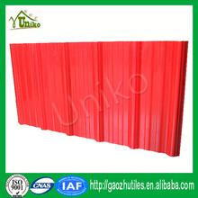 Abs 300 micron or côtelé rouge transparent pvc tôle de toiture