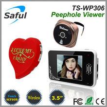 best 3.5 inch 2.4GHz Saful TS-WP306 Wireless digital peephole viewer, door peep hole, lcd door viewer