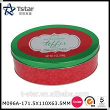 Oval shape chocolate tin box / Elliptical Tin Can
