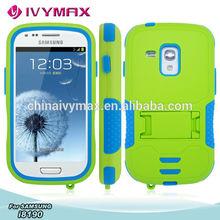 heavy shockproof case for galaxy S3 mini flip case
