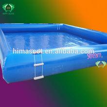 HI 0.6mm PVC funny inflatable square swimming pool.floating inflatable boat swimming pool